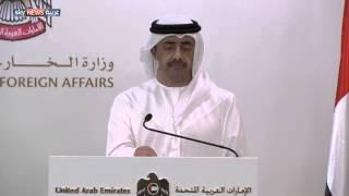 عبدالله بن زايد: مباحثات جنيف بادرة أمل
