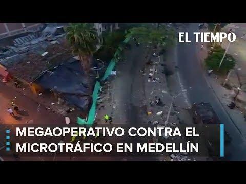 Así fue el megaoperativo contra el microtráfico en el centro de Medellín | EL TIEMPO