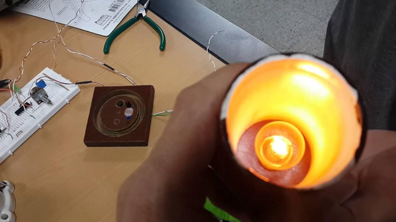 Sensor De Oscuridad O Luz Con Ldr Youtube Circuito Com Te1