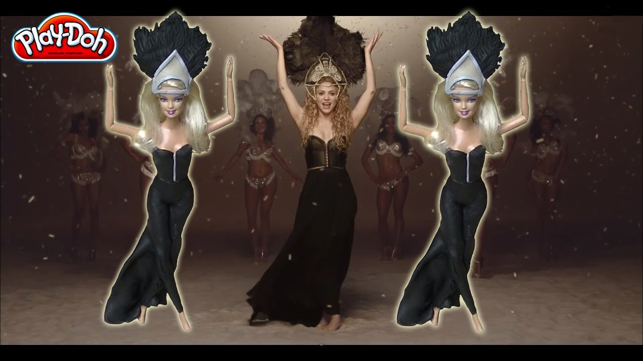 Shakira dress La La La - World Cup Brazil 2014 - Barbie Play-Doh ...