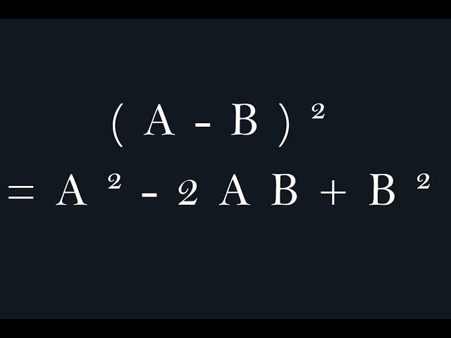 Identité remarquable : (a-b)²=a²-2ab+b²