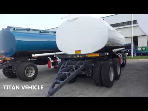 Iso 20000 liters capacity fuel dolly drawbar tanker crude oil fuel truck semitrailer