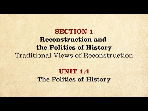 MOOC | The Politics of History | The Civil War and Reconstruction, 1865-1890 | 3.1.4