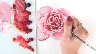 ♥ How I paint Roses (with oil) ♥