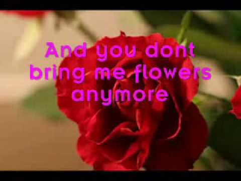 You Don T Bring Me Flowers Lyrics Barbara Streisand Neil Diamond