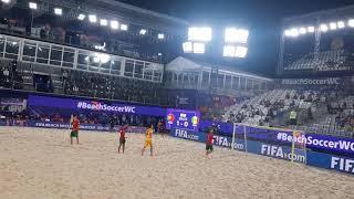 Пляжный футбол Чемпионат мира Гол Сенегала в ворота Португалии 1ый период 22 08 2021