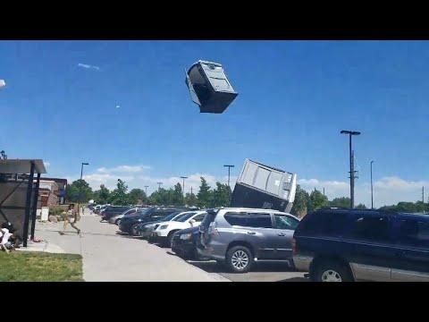 Wind Sends Porta-Potties Flying at Denver Park