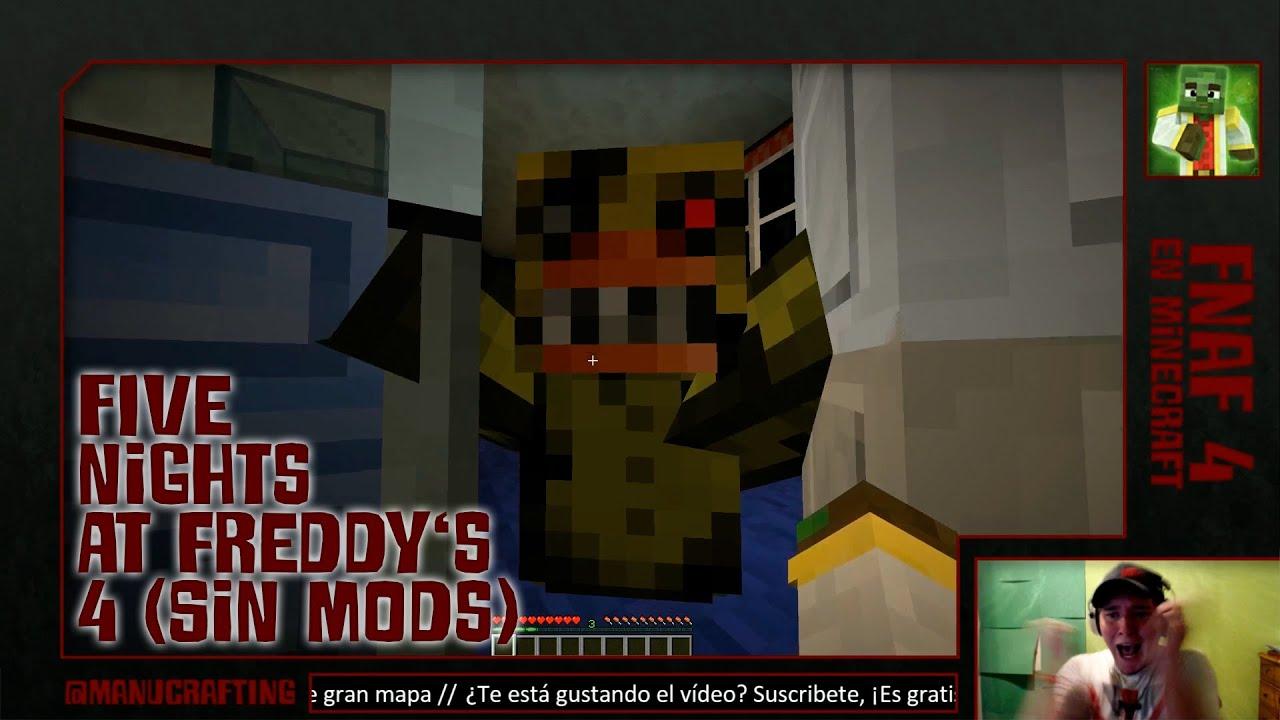 Five Nights At Freddy 39 S 4 En Minecraft Sin Mods Gameplay
