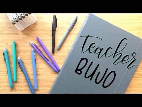 My Teaching Setup | Flip Through | Teacher Bullet Journal 2017-2018