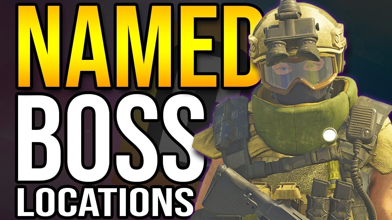 The Division 2 - How To Find NAMED BOSSES For Projects