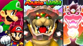 Mario and Luigi ALL FINAL BOSSES - Paper Jam to Superstar Saga (3DS, DS, GBA)