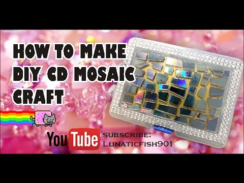 How to make DIY cd mosaic craft