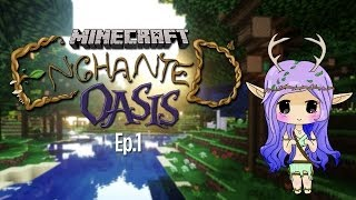 """A MAGICAL WORLD"" Minecraft Enchanted Oasis Ep 1"
