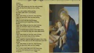 """Lullay Mine Liking"" 15th  Century Carol , Christmas 2015"