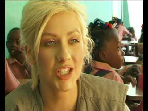 MaximsNewsNetwork: CHRISTINA AGUILERA in HAITI for WORLD FOOD PROGRAM