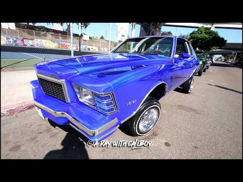 Chicano park, Barrio Logan lowrider show in SD (raw footage)