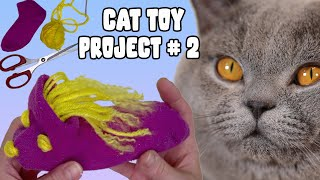 🧵✂️DIY Cat Toys for Kittens you can do at Home! British Shorthair Cat Funny Reaction 😂 [Lilac Cat]