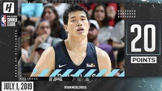 Yuta Watanabe Full Highlights Grizzlies vs Jazz (2019.07.01) Summer League - 20 Points!