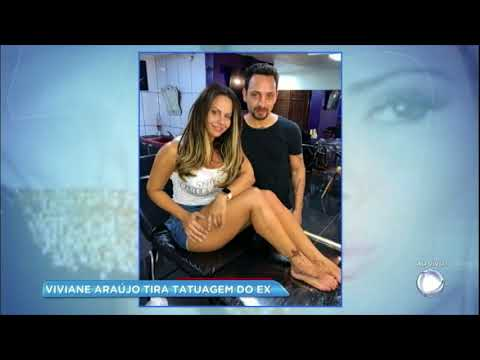 Viviane Araújo apaga tatuagem do ex pela segunda vez