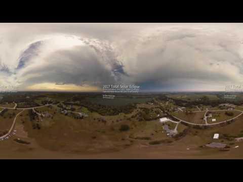 Drone 360/VR Timelapse - 2017 Total Solar Eclipse