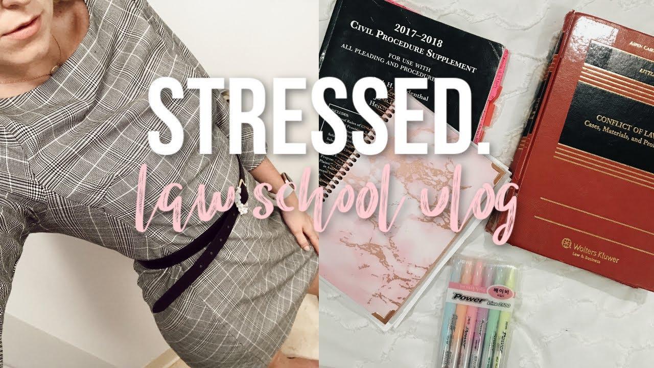[VIDEO] - SO STRESSED | LAW SCHOOL VLOG 1