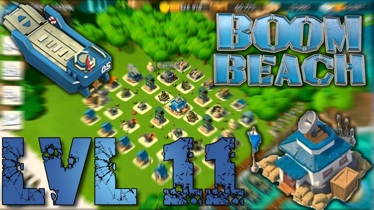 boom beach another headquarters leevl 11 defense strategy - youtube