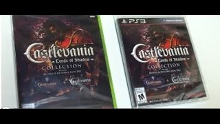 Unboxing Castlevania Lords of Shadow Collection PS3 Xbox 360