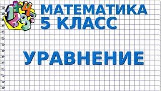 УРАВНЕНИЯ. Видеоурок | МАТЕМАТИКА 5 класс