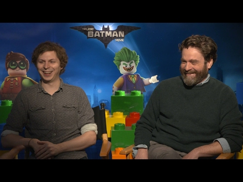Michael Cera & Zach Galifianakis Hilarious THE LEGO BATMAN MOVIE Interview