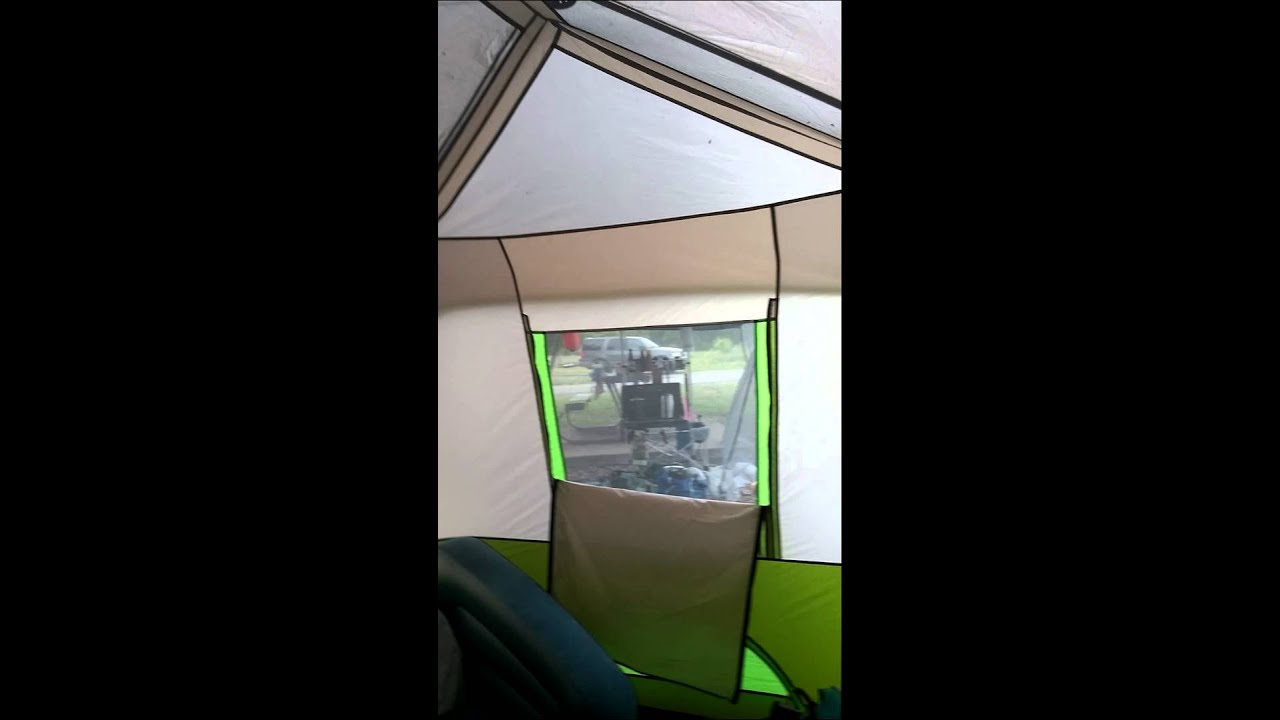 Ozark Trail 9 person instant tent with screen room & Ozark Trail 9 person instant tent with screen room - YouTube