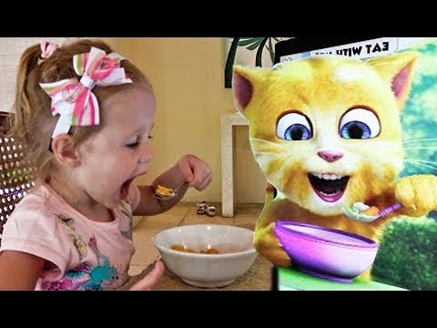 Funny Kid playing Game for Kids Talking Cat Tom and Friends Video for children and toddlers