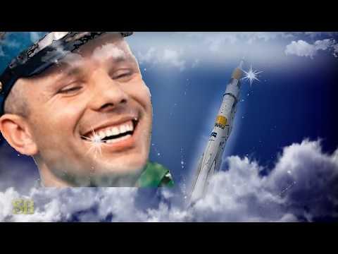С Днем Космонавтики Красивая видео открытка с Днем Космонавтики и Авиации