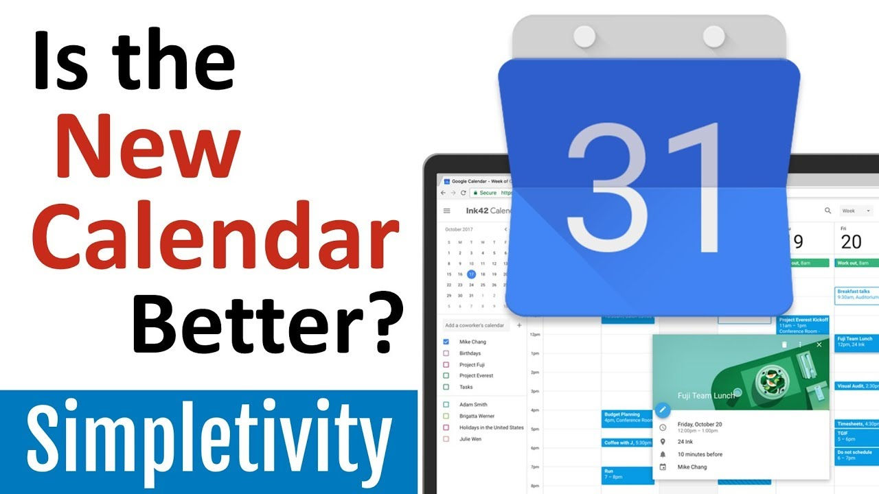 Google Calendar Responsive Design : Is the new google calendar better redesign tips youtube