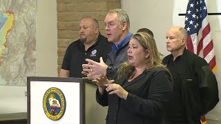 Officials provide update on California wildfires