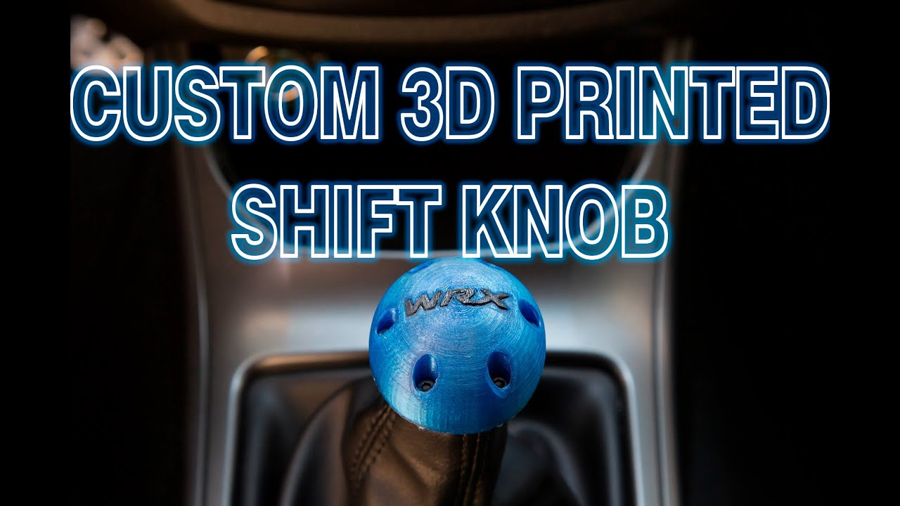 Custom 3D Printed WRX Shift Knob