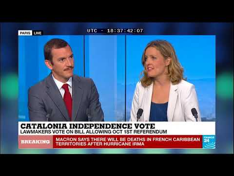 Eduard Salsas - Legal comments on the Catalan law on the referendum (France 24)