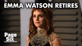 Is Emma Watson retiring? Star stepping away from acting | Page Six Celebrity News