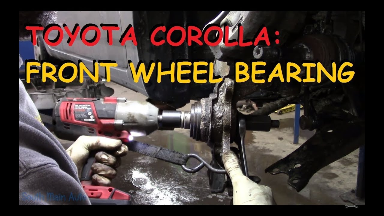 Toyota Corolla Front Wheel Bearing Replacement