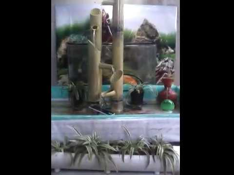 NEW....Kolam ikan minimalis(air mancur bambu)