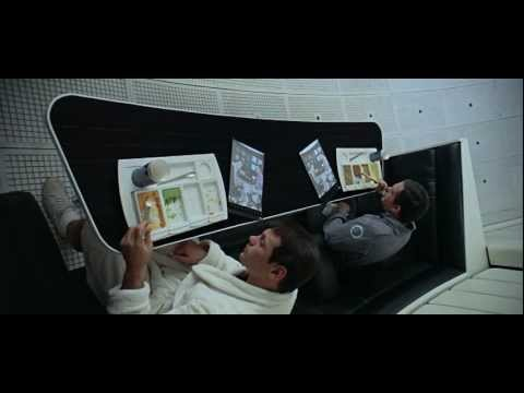 Apple iPad in the 1968 classic: 2001 A SPACE ODYSSEY [720p]
