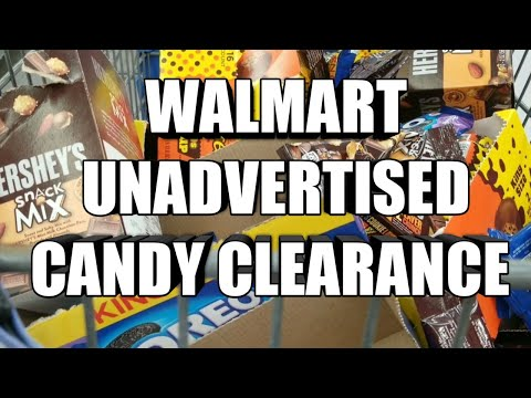 WALMART UNADVERTISED CANDY CLEARANCE