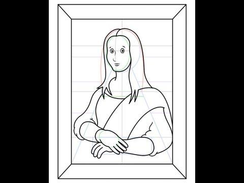 Kids Can Draw Easy Mona Lisa