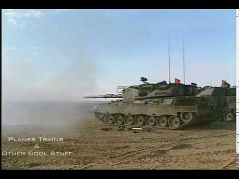Canadian Leopard 1 Tanks firing - pure sound