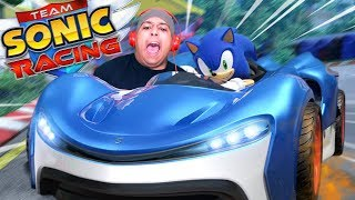 IS THIS NEW VERSION BETTER THAN MARIO KART!? [TEAM SONIC RACING]