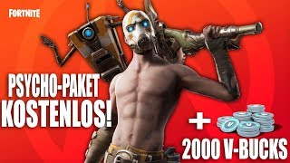 PSYCHO PAKET FREE in FORTNITE! FREE BORDERLANDS BUNDLE in FORTNITE! [TUTORIAL] - English