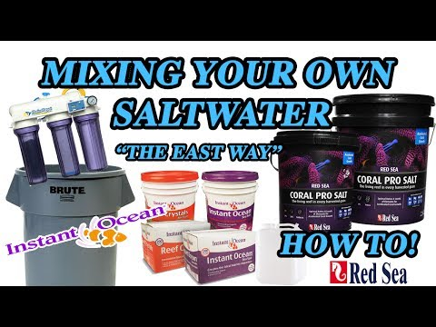 Making Your Own Saltwater THE EASY WAY (HOW TO)