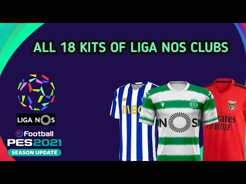 TOP & BEST KITS PES 2021 MOBILE | ALL 18 LIGA NOS CLUBS
