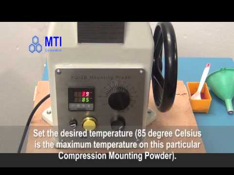 MP-300 Compression Mounting Press.flv