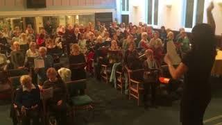 Sutton Coldfield Tuneless Choir sing 'You Raise Me Up'