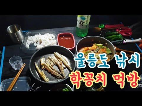 울릉도낚시 / 울릉도 백패킹 / 생선구이 먹방
